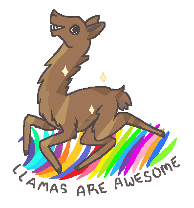 Llamas are Awesome by TinySauce