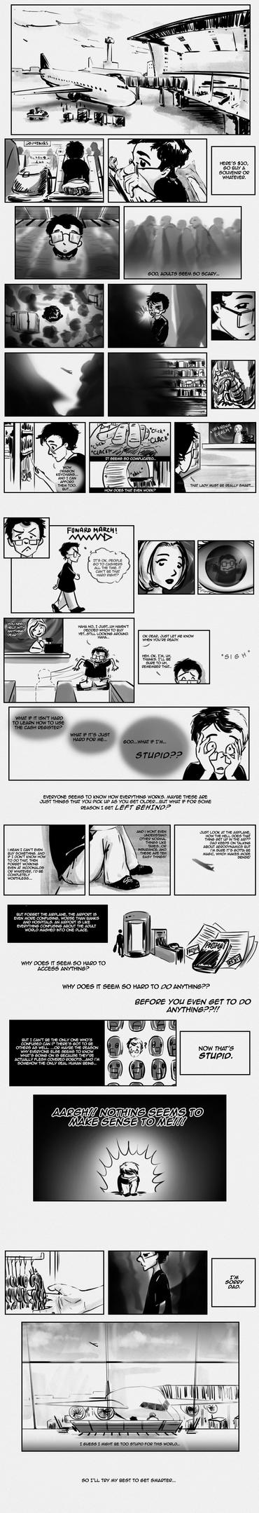 Shuun Webcomic - Airport by Zorocan