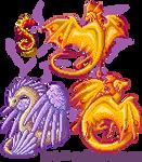 Pixel Dragon Set