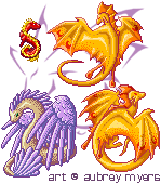 Pixel Dragon Set by armaina