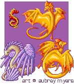 Pixel Dragon Set by armaina