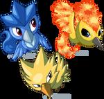 Pokemon Ranch Legendary Birds