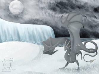 Snowy Night by armaina