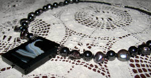 Pearl and Hematite Necklace