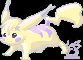 Pastel Pikachu by armaina