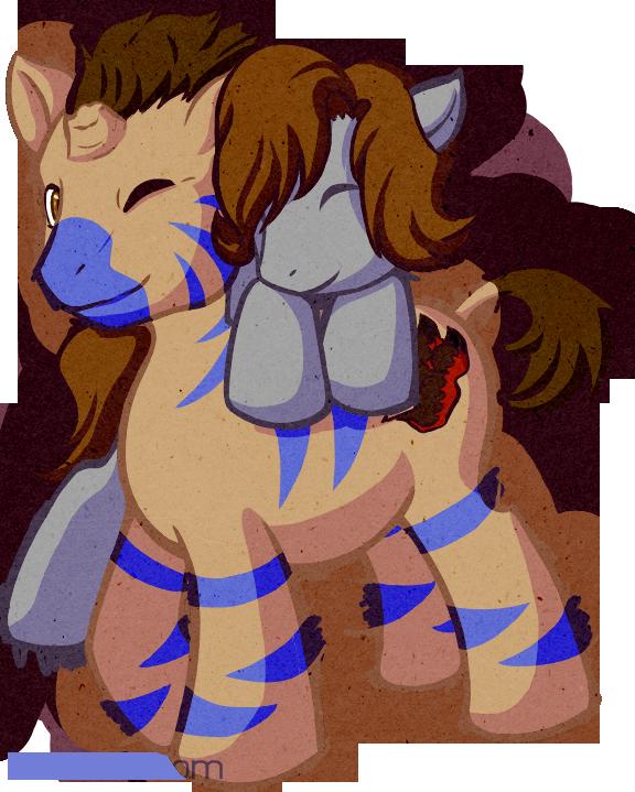 Pony Snuggles by armaina