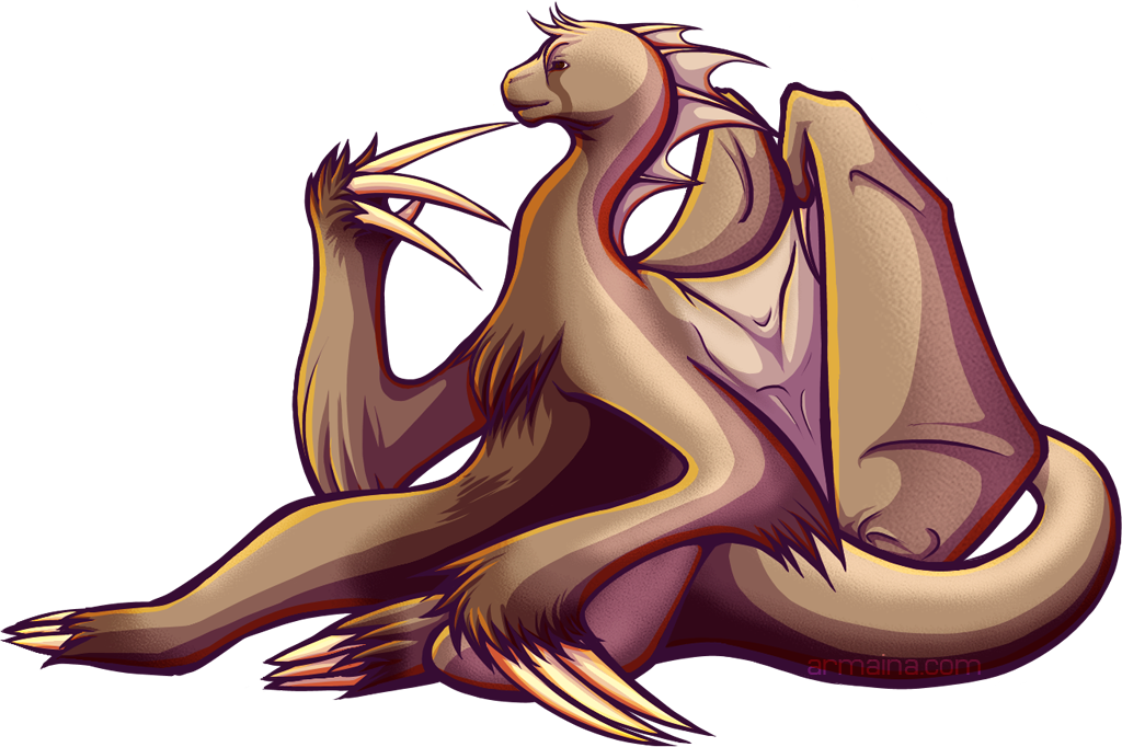 Sloth Dragon by armaina