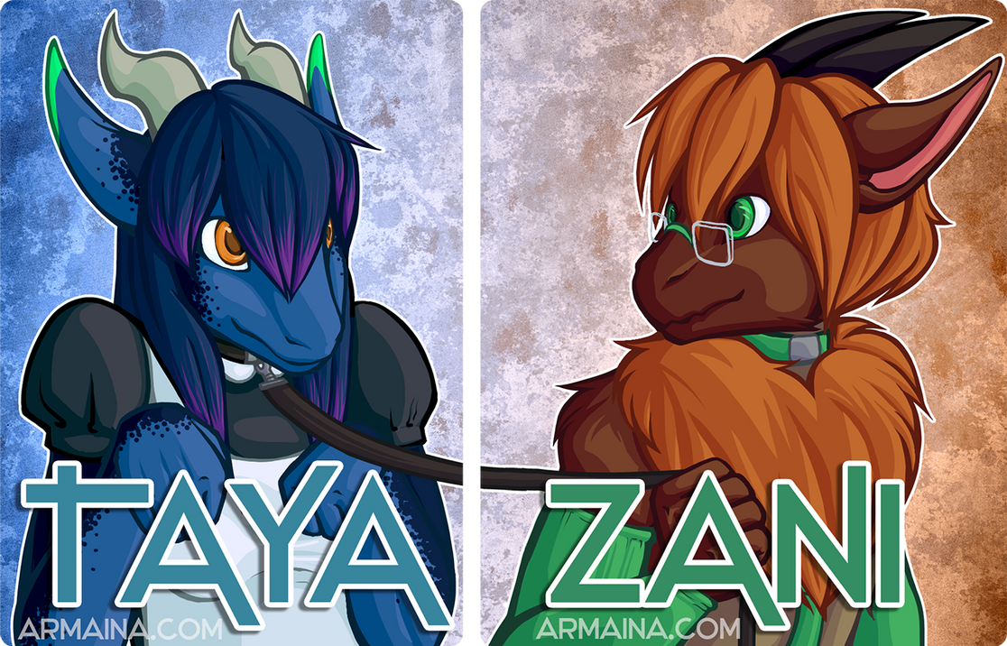 Taya and Zani Badge Set by armaina