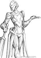 Knightess Ink by armaina