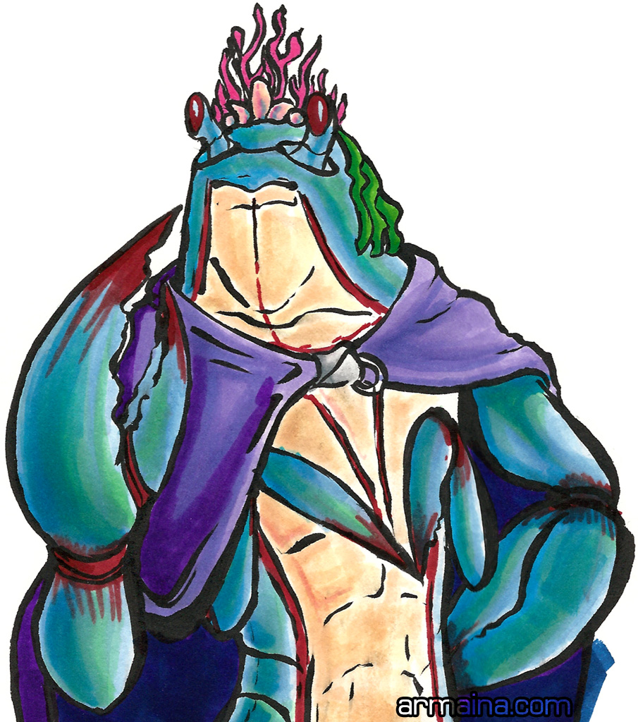 Crab Prince Eddy by armaina