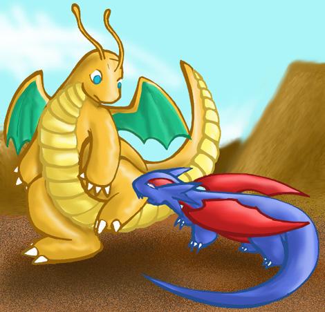 Dragonite VS Salamece by armaina on DeviantArt