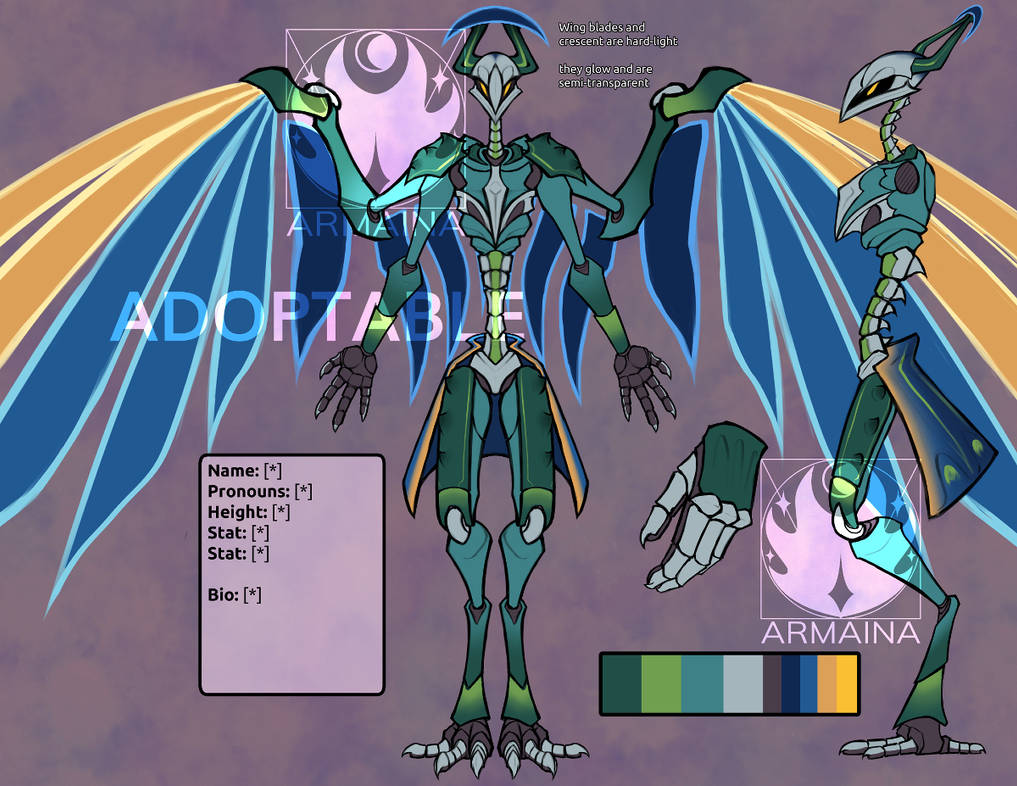 peafowl mech adopt available by armaina dei8lm0