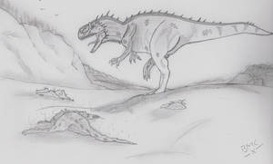 hungry Giganotosaurus