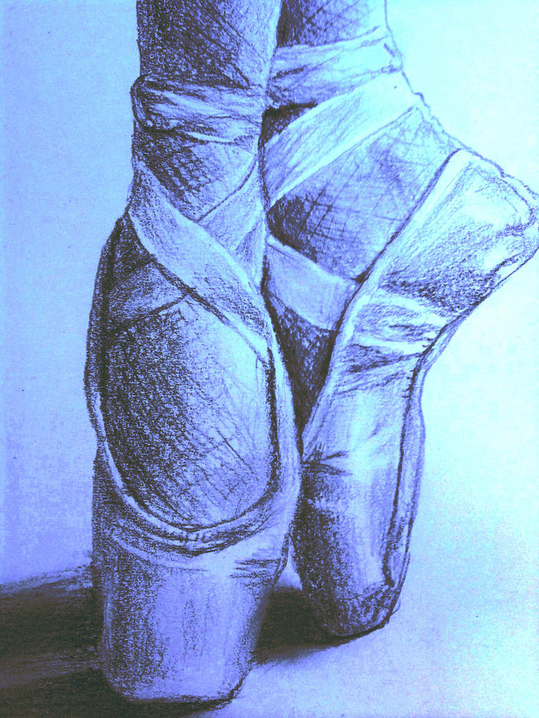 Edited Drawing - Ballet Shoes by xShennax on DeviantArt