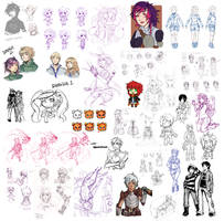 sketch and doodle dump by Kalcedonyx