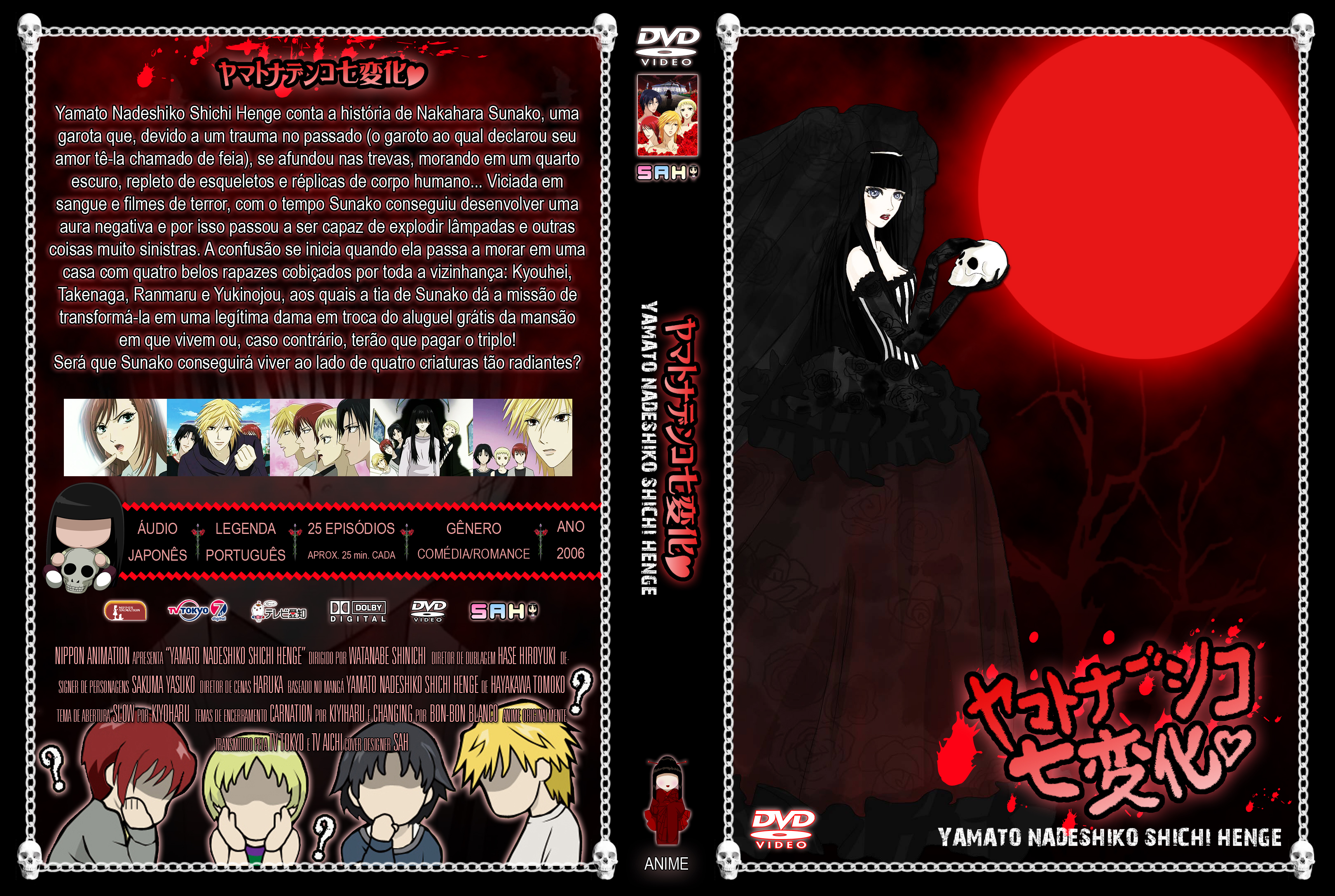 Dvd cover yamato nadeshiko shichi henge by sabrinafranzoni
