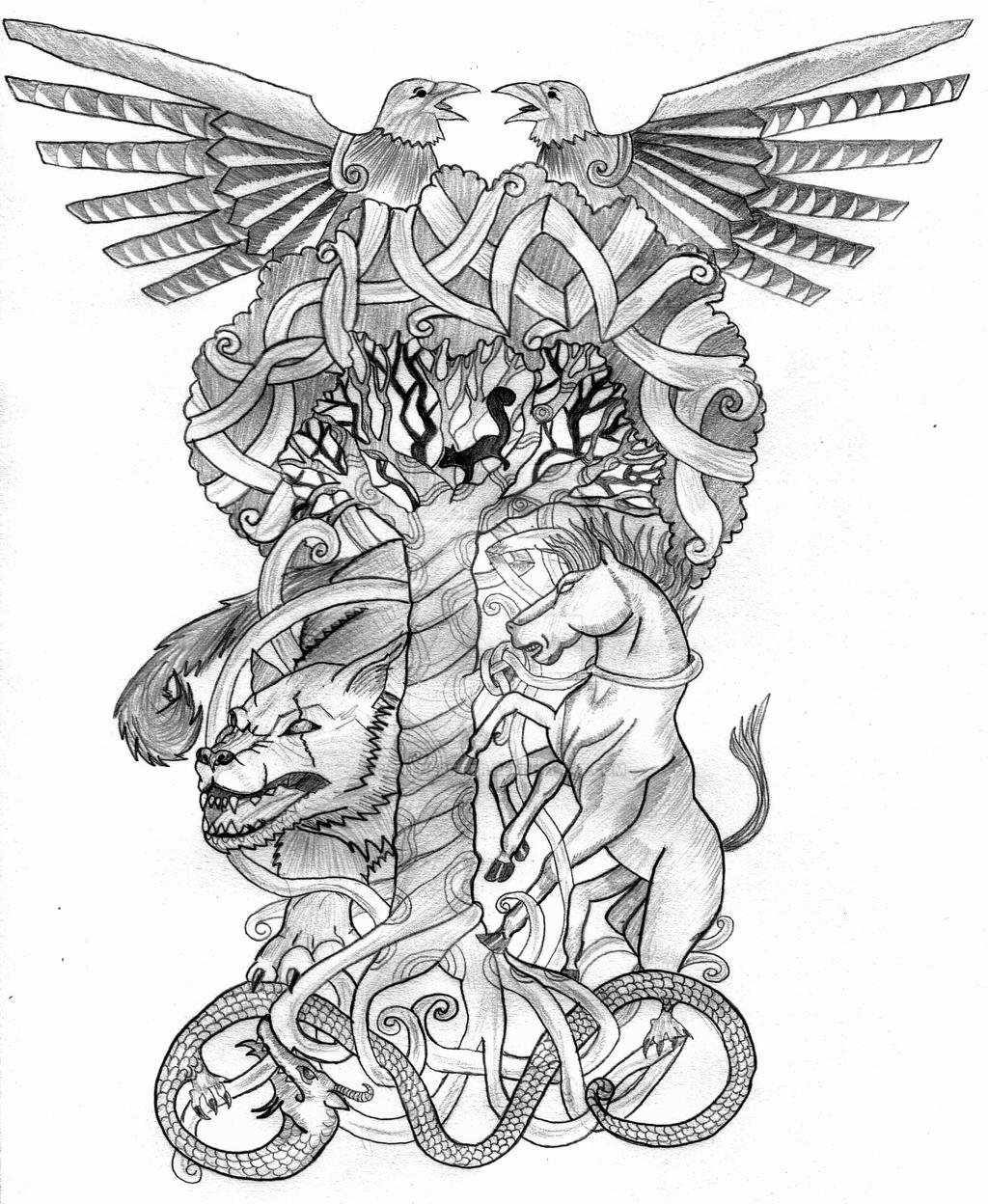 Yggdrasil By Jentheripper On Deviantart