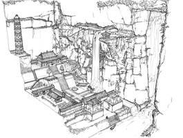 Env Design - Temple by alantsuei