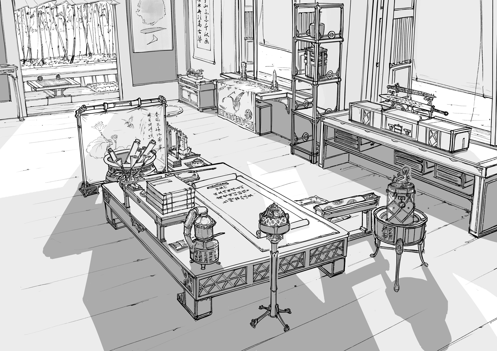Env Design - Study Room by alantsuei