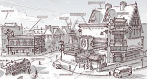 Town Design - Tearoom, music pub and vending van