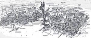 Semi-underground city topview by alantsuei