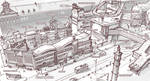 Town Design - Apartment complex, Community center
