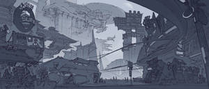 Open World Design - Mega City 001 by alantsuei