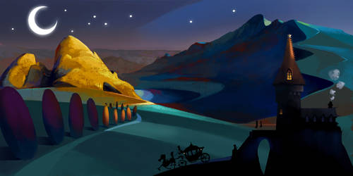 Design - Night Castle by alantsuei