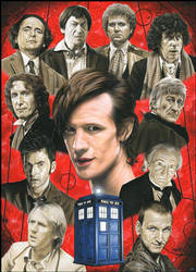 Doctor Who-The Eleven Doctors by caldwellart