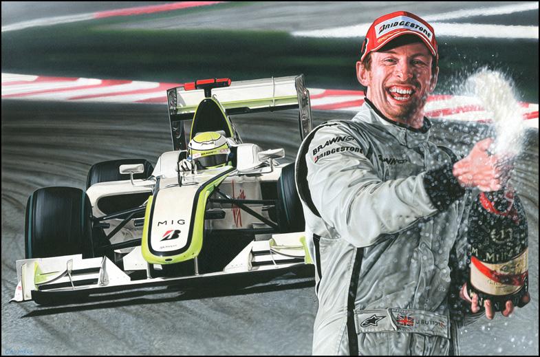 Jenson Button by caldwellart