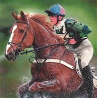 Horse + Rider by caldwellart
