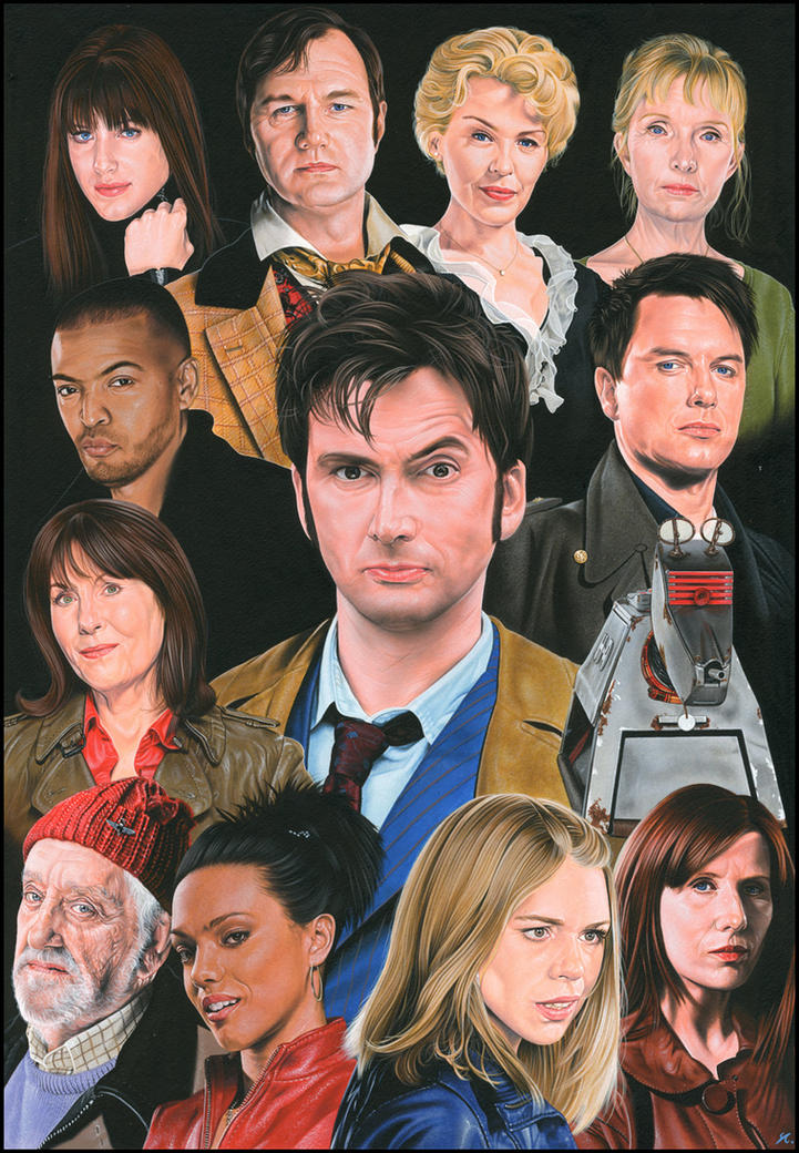 Doctor Who Companions + Allies by caldwellart
