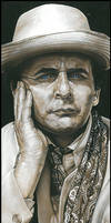 Sylvester McCoy-Signed Artwork