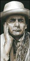 Sylvester McCoy-Signed Artwork by caldwellart