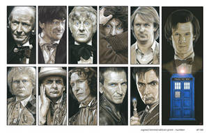 The Eleven Doctors Montage by caldwellart