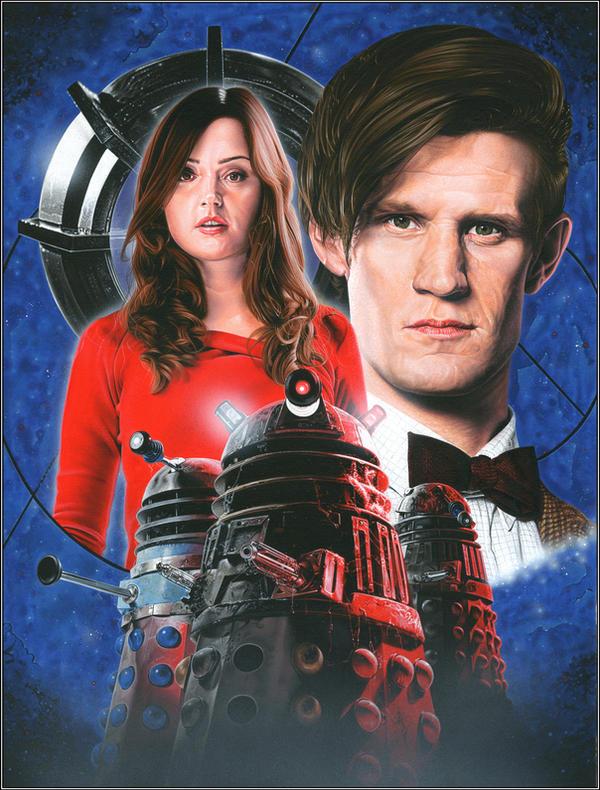 Asylum of the Daleks by caldwellart