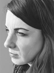 Ruth (Monochrome Study). by caldwellart