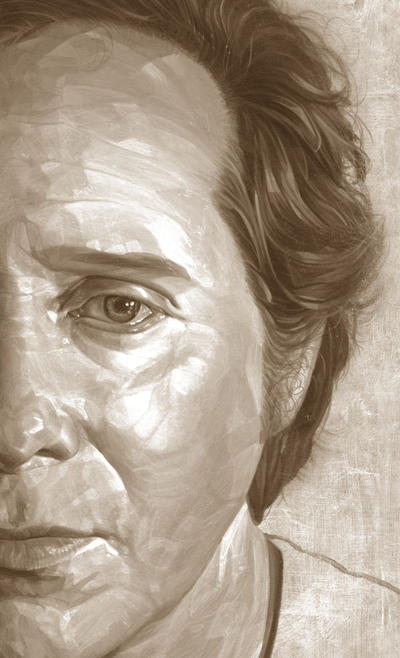 Self-Portrait (sepia study). by caldwellart