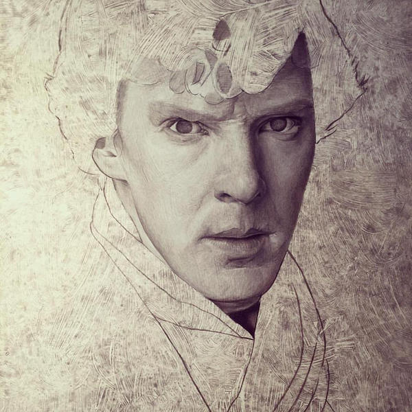 Sherlock work in progress by caldwellart