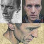 Three paintings of Carl.