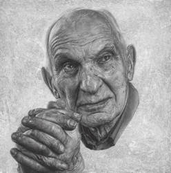 Study of Lionel at 92. by caldwellart