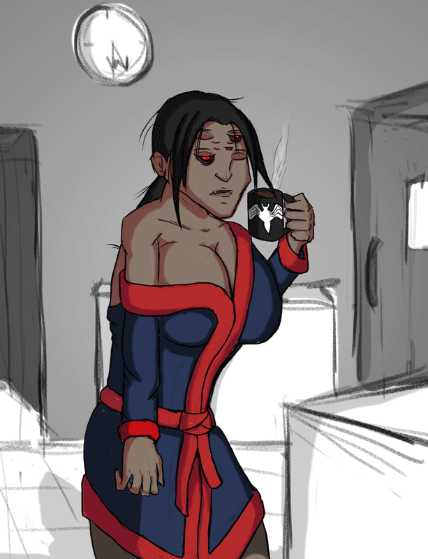 First Coffee, Then Spider Things by SpiderPope