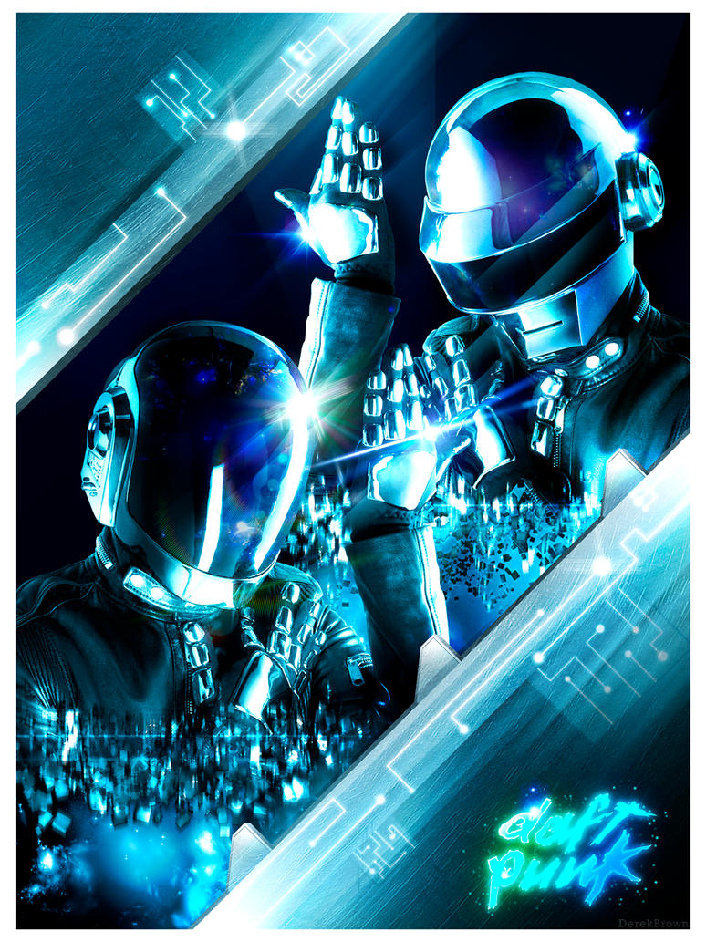 Daft Punk Poster by AdNinja