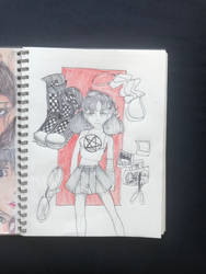 hellgirl by frogwithapencil
