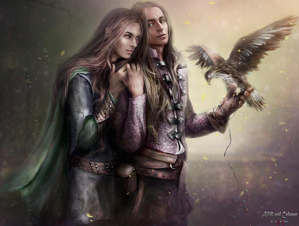 Ailill and Calanon by Kaprriss