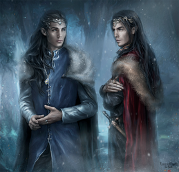 Feanor and Fingolfin by Kaprriss