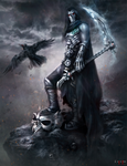 The Death and his raven Dust