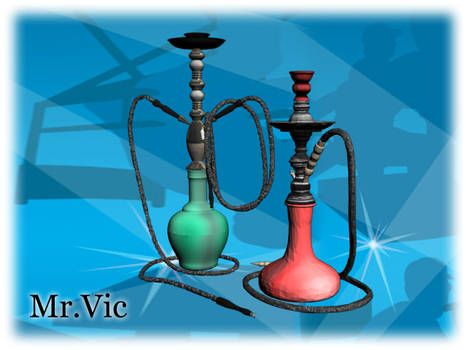 Two props hookahs