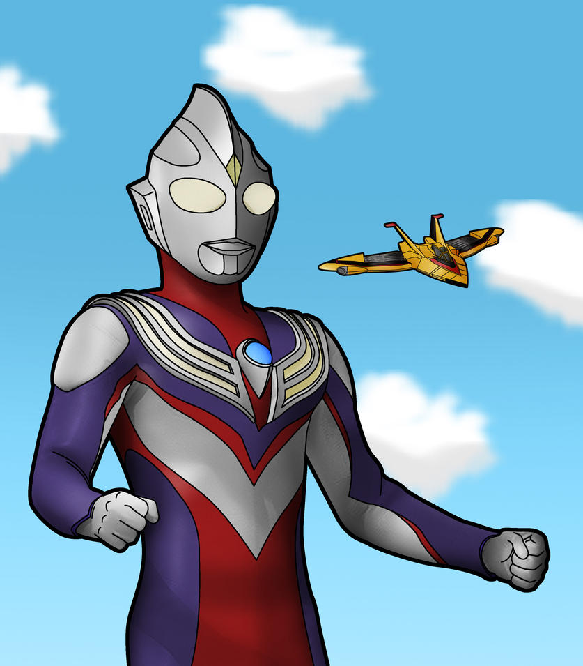 Ultra B Cartoon Characters : Ultraman tiga by sokai on deviantart