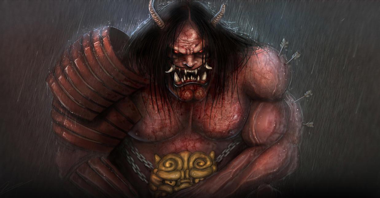 Oni demon by D4rkharlequin on DeviantArt: d4rkharlequin.deviantart.com/art/Oni-demon-296406675